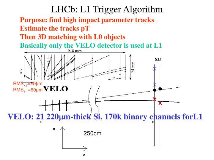 LHCb: L1 Trigger Algorithm