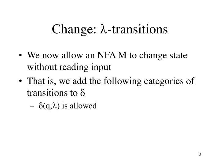 Change: