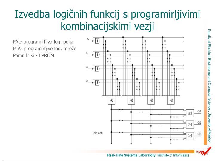Izvedba logičnih funkcij s programirljivimi kombinacijskimi vezji