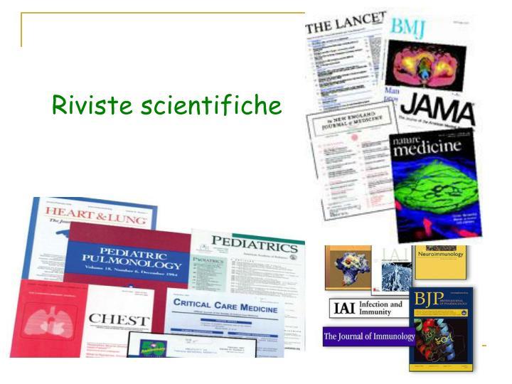 Riviste scientifiche