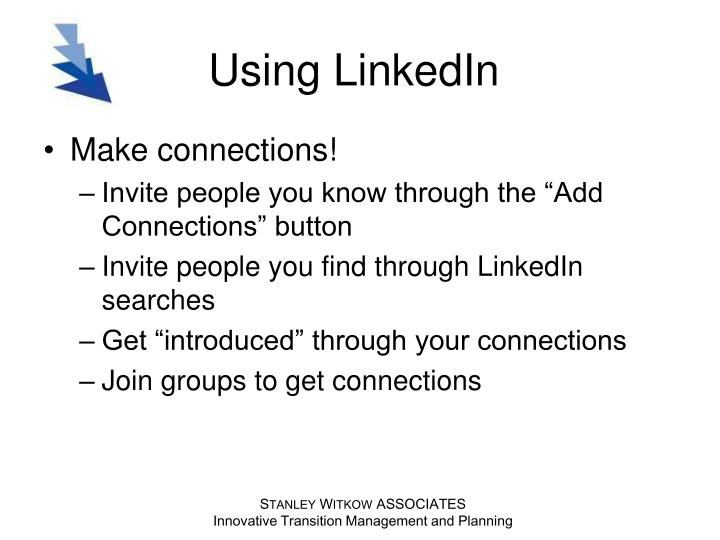 Using LinkedIn