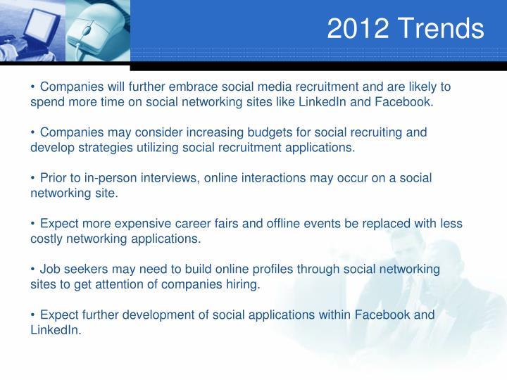 2012 Trends
