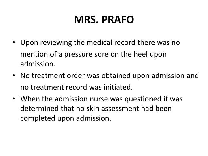 MRS. PRAFO