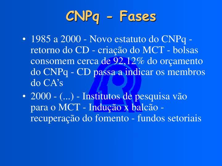 CNPq - Fases