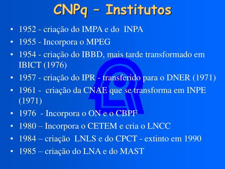 CNPq – Institutos
