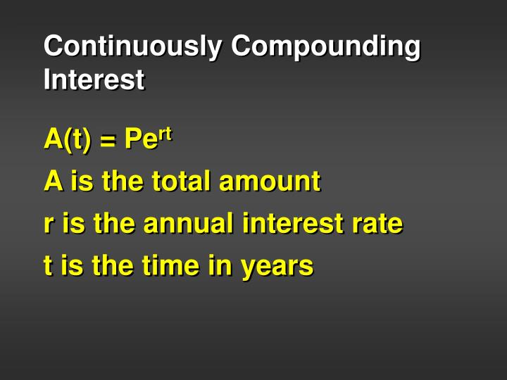 Continuously Compounding Interest