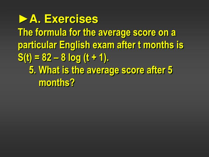 ►A. Exercises