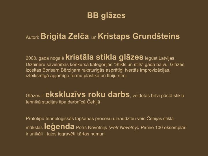 BB glāzes