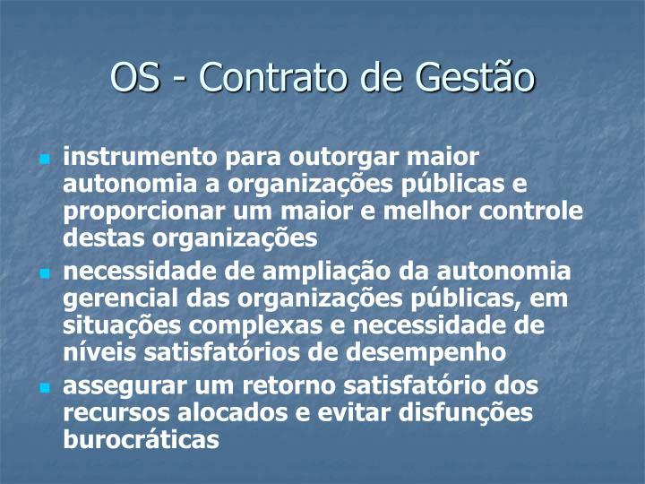 OS - Contrato de Gestão