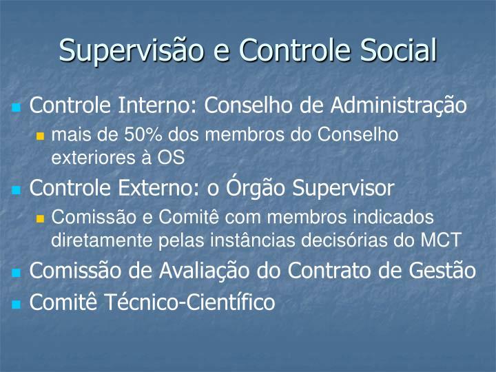 Supervisão e Controle Social