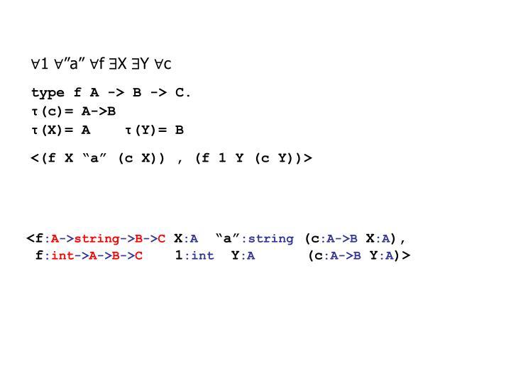 """∀1 ∀""""a"""" ∀f"""