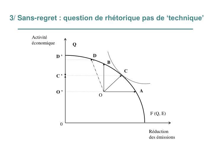 3/ Sans-regret : question de rhétorique pas de 'technique'
