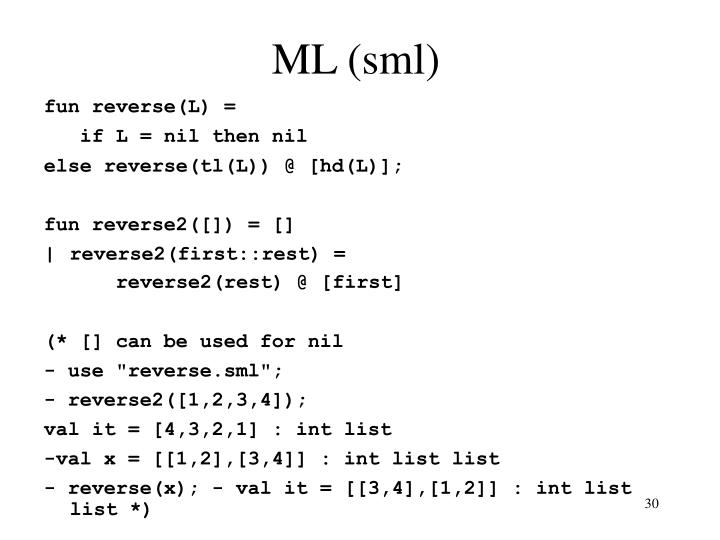 ML (sml)