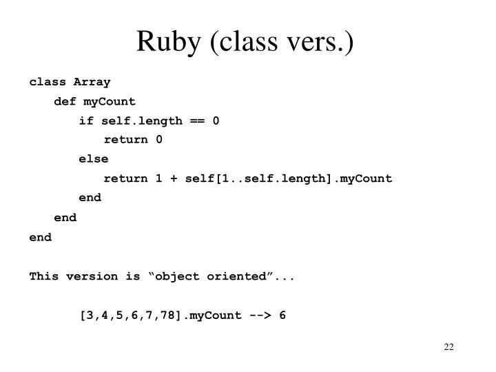 Ruby (class vers.)