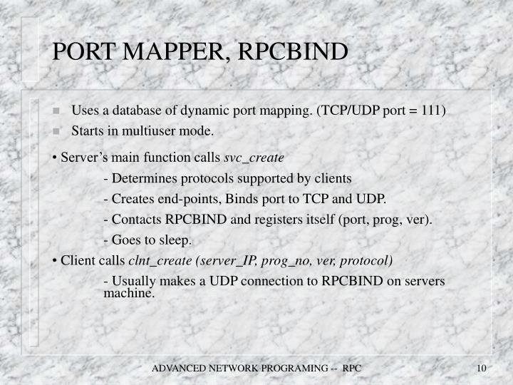 PORT MAPPER, RPCBIND