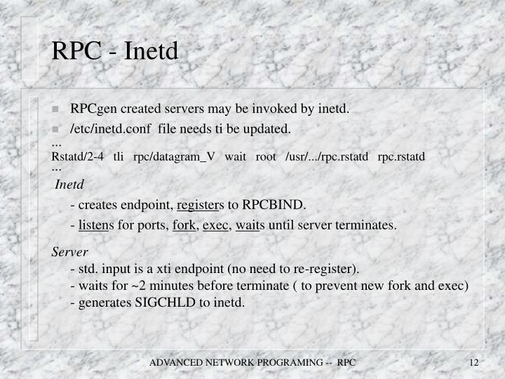 RPC - Inetd