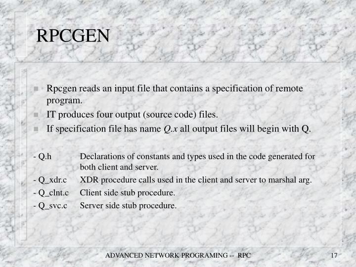 RPCGEN
