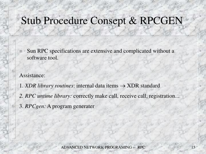 Stub Procedure Consept & RPCGEN