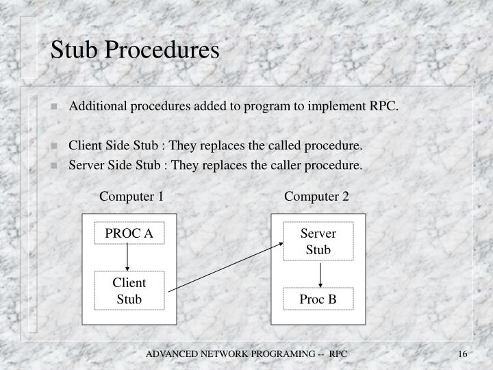 Stub Procedures