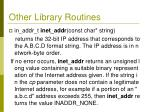 other library routines