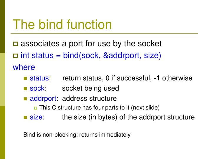 The bind function