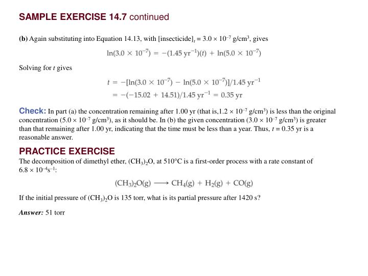SAMPLE EXERCISE 14.7