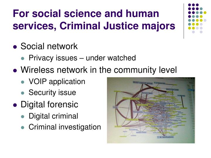 For social science and human services, Criminal Justice majors