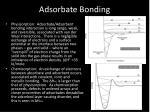 adsorbate bonding