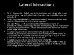 lateral interactions