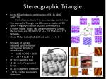 stereographic triangle