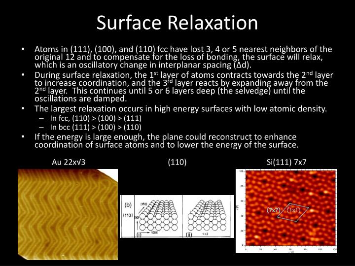 Surface Relaxation
