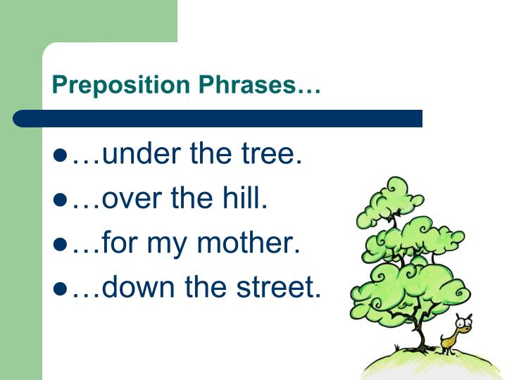 Preposition Phrases…
