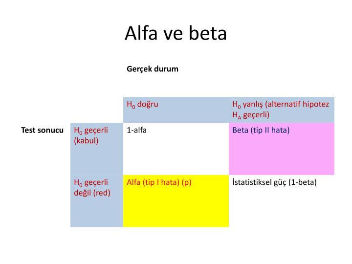 Alfa ve beta