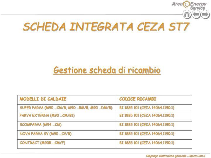 SCHEDA INTEGRATA CEZA ST7