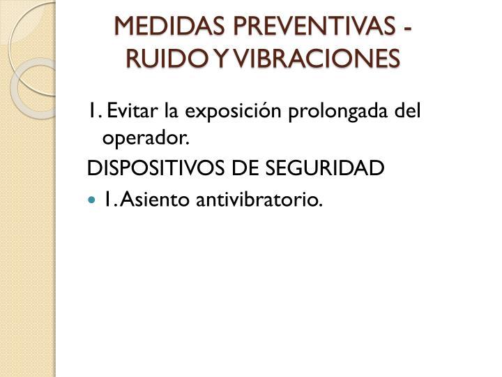 MEDIDAS PREVENTIVAS -