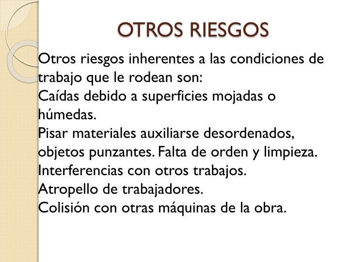 OTROS RIESGOS