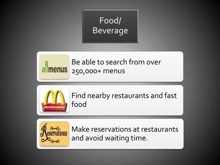 Food/ Beverage