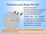 variation nach regel 86 1 b