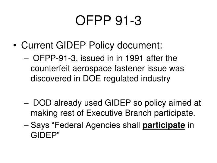 OFPP 91-3