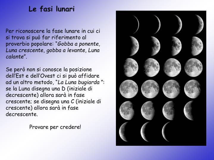 Le fasi lunari