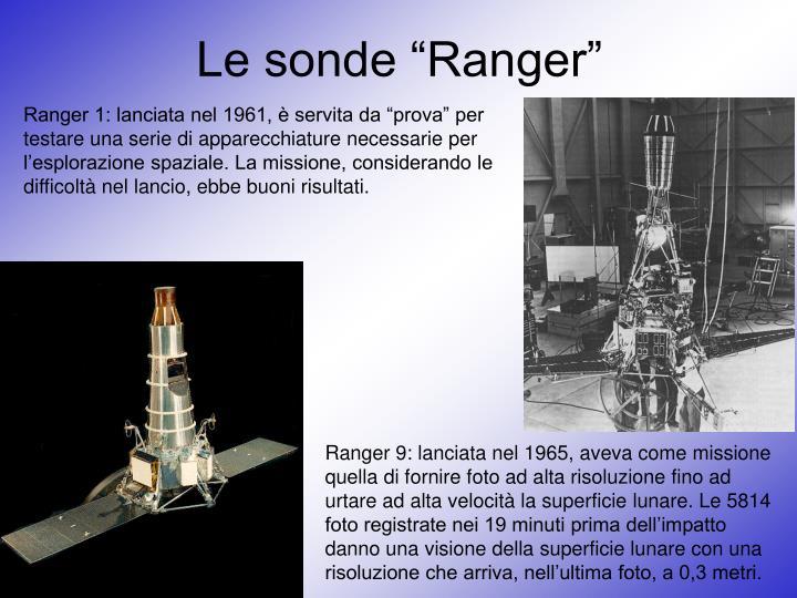 """Le sonde """"Ranger"""""""