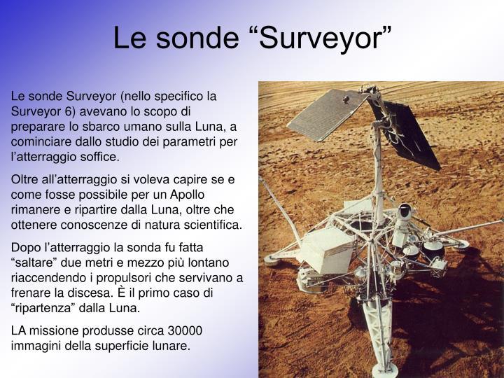 """Le sonde """"Surveyor"""""""