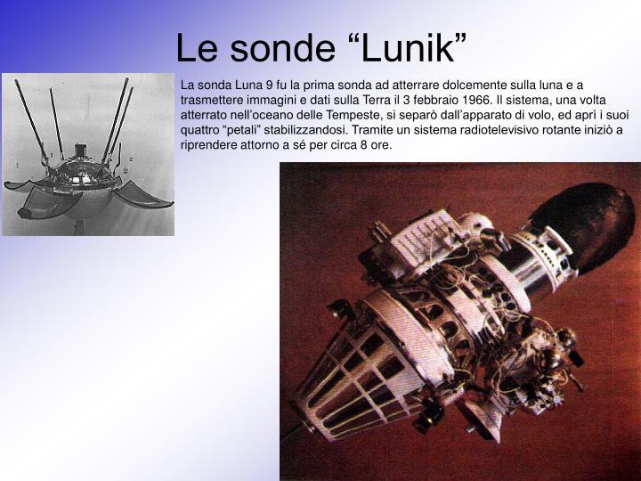 "Le sonde ""Lunik"""