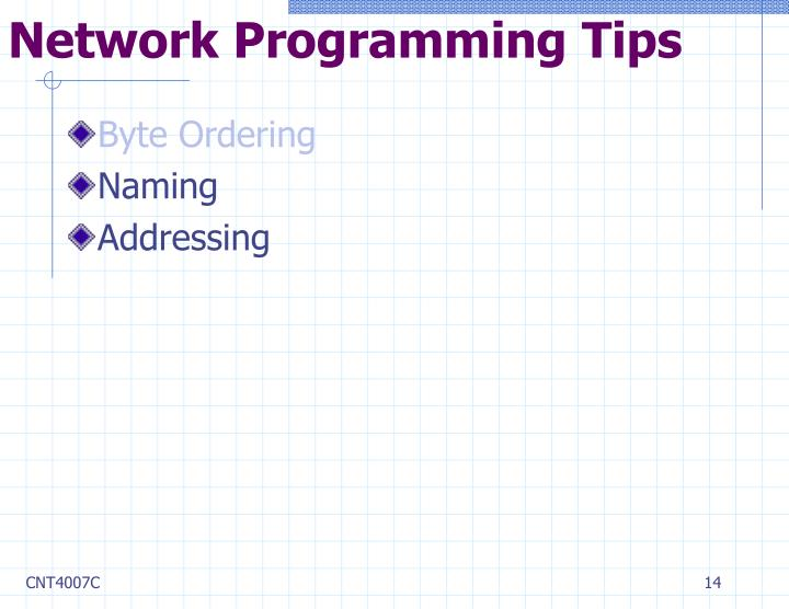 Network Programming Tips