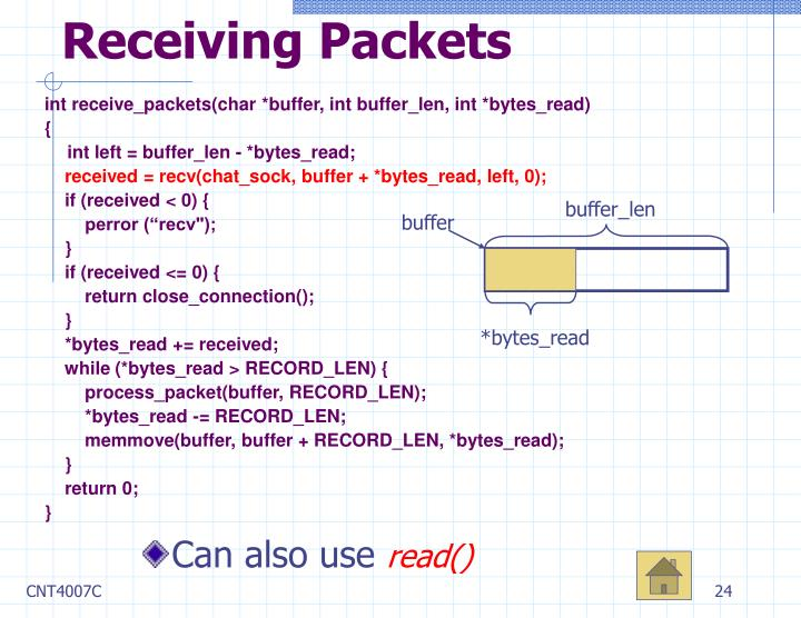 Receiving Packets