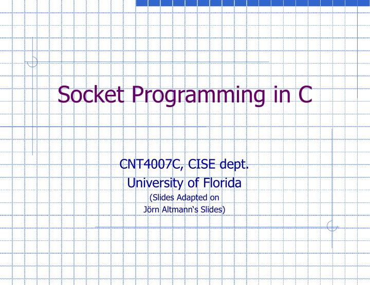 Socket programming in c