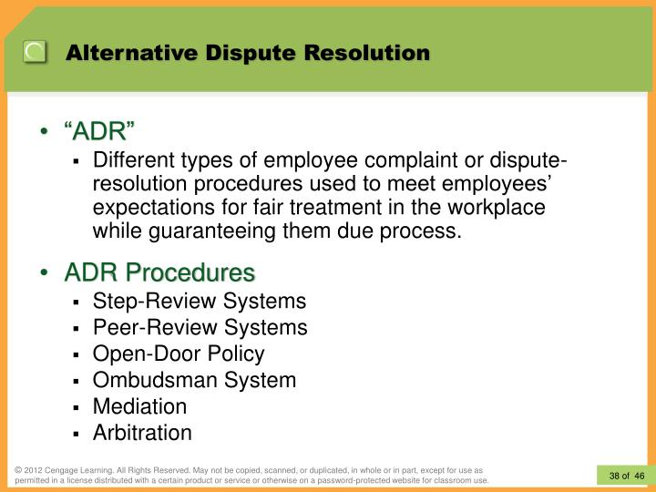 alternative dispute resolution methods in sri Alternative dispute resolution the method for allocating fees and expenses drafting dispute resolution clauses.