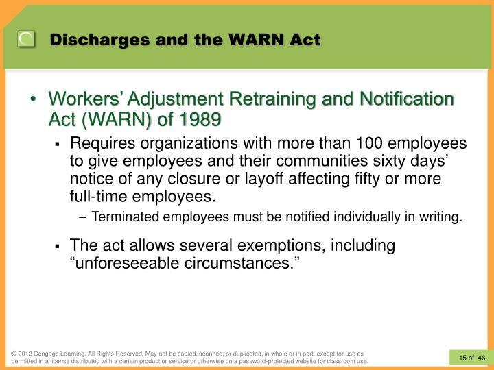 warn act 1989