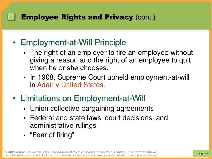 employee privacy rights thesis