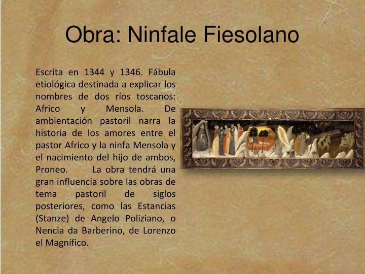 Obra: Ninfale Fiesolano